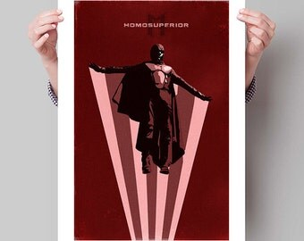 "X-MEN Days of Future Past Inspired Magneto Minimalist Movie Poster Print - 13""x19"" (33x48 cm)"