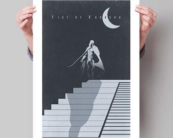 """MOON KNIGHT Inspired Minimalist Poster Print - 13""""x19"""" (33x48 cm)"""