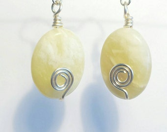 Serpentine earrings, Gemstone earrings , Green earrings, Bollywood earrings, Silver earrings, Boho earrings, Natural stone earrings