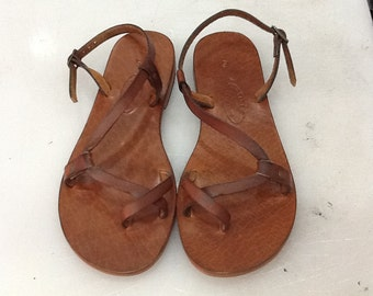 BIANNA:Classic Comfortable Handmade leather sandals custom size available