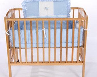 animal appliqu porta crib bedding - Porta Crib