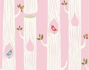 Circa 52 - Tree Stripes (Pink) - Monaluna - Birch Organic Fabrics
