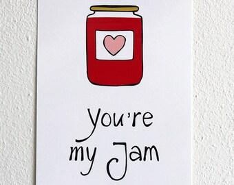 You're my jam | Postcard | Love | Illustration