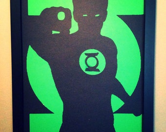 Green Lantern wall art