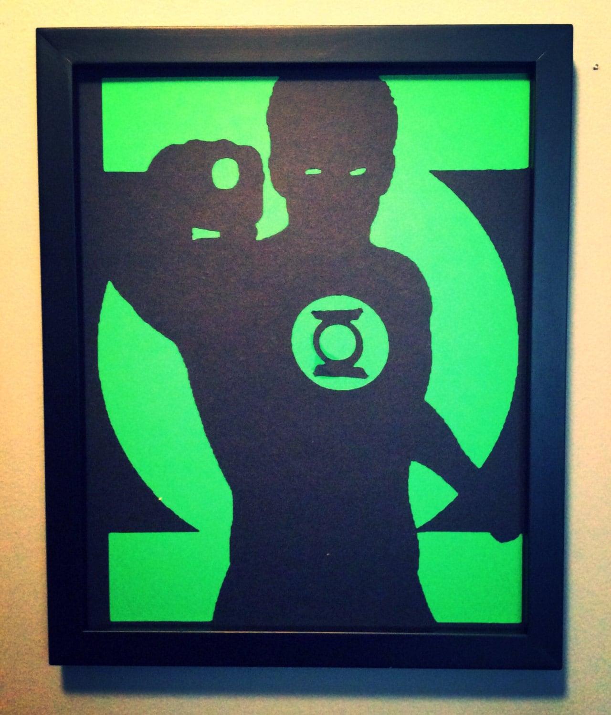 Green Lantern wall art from Vongooz on Etsy Studio