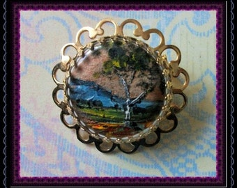 Small Hand Painted Brooch