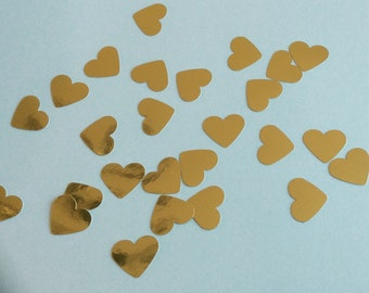 150 hand punched gold hearts