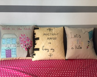 mary poppins pillow- nice gift MADE BY ORDER