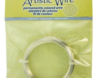 Artistic Wire Coil Bag SP Silver 14ga 25 feet (WR36014)