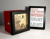 Harry Potter Tale of the Three Brothers shadow box night light, unique special gift, kids room night light, unique home decor, harry potter