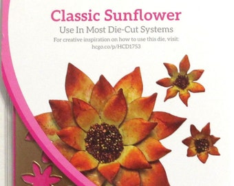Heartfelt Creations Cut&Emboss Dies By Spellbinders ~ Classic Sunflower HCD753