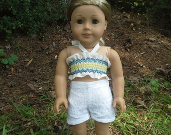 18 inch doll blue and yellow halter top