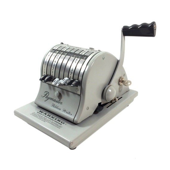 paymaster check writing machine