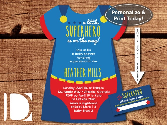 Exceptional image with regard to free printable superhero baby shower invitations