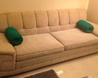 10% OFF SALE Mid Century Modern Tan Sofa and Chair