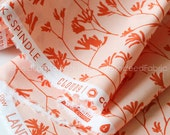ORGANIC Kangaroo Paw Orange, Ink & Spindle, Landscape, Cloud 9 Fabrics, Certified Organic Cotton, Quilting Weight