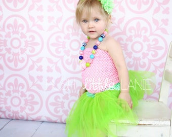 Tutu Set - Tutu - Chunky Necklace - Leg Warmer - Headband - Photograpy Prop - First Birthday Outfit -Cake Smash - Ready to Ship