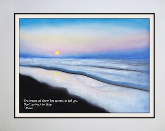 Inspired Spaces: Famous Quotes Paired with Original Artwork - Dawn / Rumi