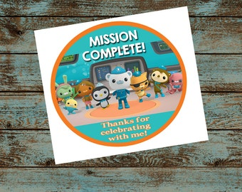 Octonauts Birthday Party Favor - Thank You Tag - Digital File Diy