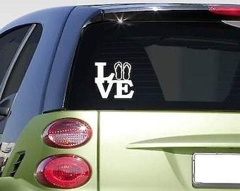 "Flip Flop Love 6"" Sticker *F193* Decal Beach Ocean Sand Tan Bikini"