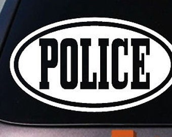 Police Sticker Decal 6""