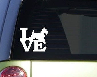 "Scotty Love 6"" Sticker *F144* Decal Scottish Terrier Scottie"