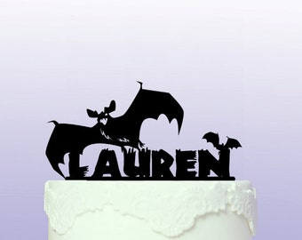 Personalised Bats Cake Topper