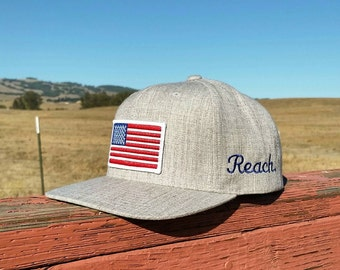 U.S.A. - Heather Grey Snapback Hat