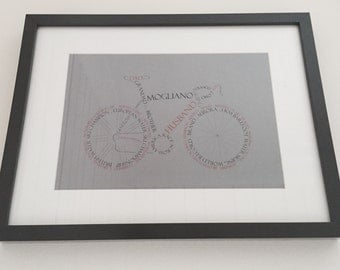 8x12 persoanalised bike high quality print excluding frame