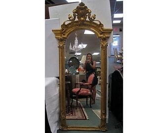 19th C. Gold Gilt Pier Mirror