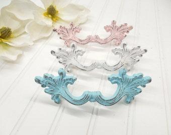 Dresser Knob-You Pick Colors/ Drawer Pulls/Dresser Knobs/Nursery Decor/Pink/SSLID0176/Shabby White/ Blue/ Ivory/ Distressed