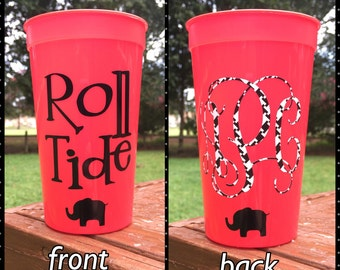Roll Tide Monogrammed Personalized Tailgating/Party Cup