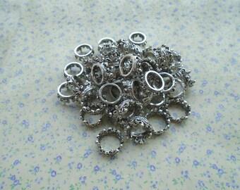 20 pcs of antique silver color metal crown pendant charm , 18*8mm , MP81