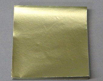 Dull Gold Candy Foil Wrappers Confectionery Foil 125 count - FD15