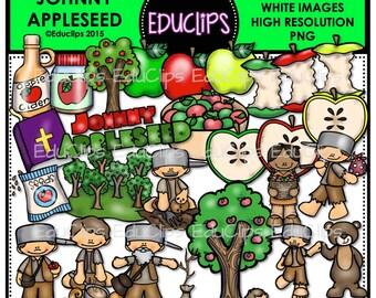 Johnny Appleseed Clip Art Bundle