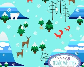 Winter Woods Glacier Knit Fabric by Made Whimsy