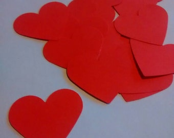 20 Red hearts, confetti, confetti, wedding, baby, parties