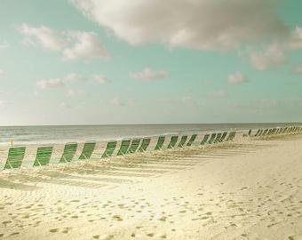 Beach Chairs Florida Nautical Photography yellow green wall decor