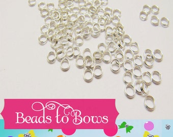 Quality 5 mm split rings,  Qty 50 - 100  Double loop split rings,  jewelry findings, split rings hold there shape better than standard ones