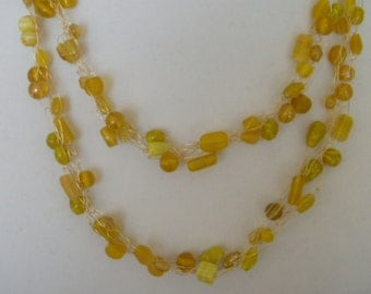 Shades of Yellow Braided Necklace