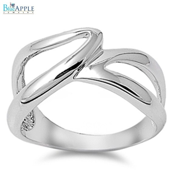 12mm Infinity Simple Plain Love Promise Wedding Band Ring ...
