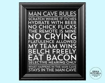16x20 Chalkboard Man Cave Poster // DIGITAL DOWNLOAD // INSTANT
