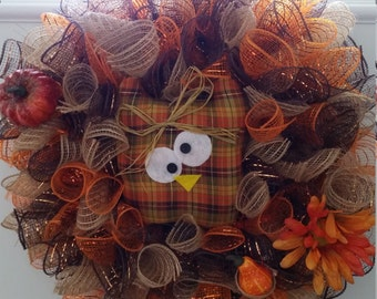 Harvest Owl Wreath