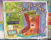 Happy Life Big Splash art by Lori Siebert