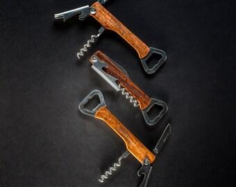 Set of 4 - Beer Opener - Personalized Wine Opener - Bottle Opener - Custom Wine Tool - Engraved Wine Tool - Engraved Corkscrew - Wine Opener