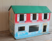 Vintage Metal Doll House Play House