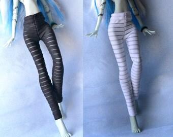 Monsterr highh Leggings 2 items, Monsterr Highh doll, stretch Leggings,transparent stripped,monsterr highh doll