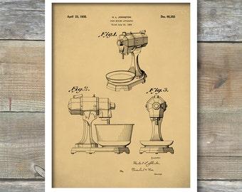 Kitchen Mixer, Kitchen Aid Poster, Kitchen Aid Patent, Kitchen Aid Print - P66