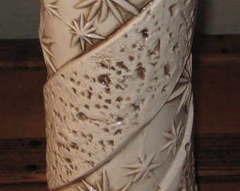 Tall Vintage Star Bone Color Vase*****.