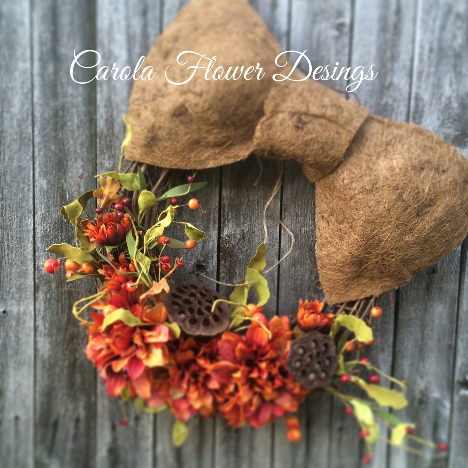 sale discount 20 off fall wreaths fall by carolaflowerdesigns. Black Bedroom Furniture Sets. Home Design Ideas